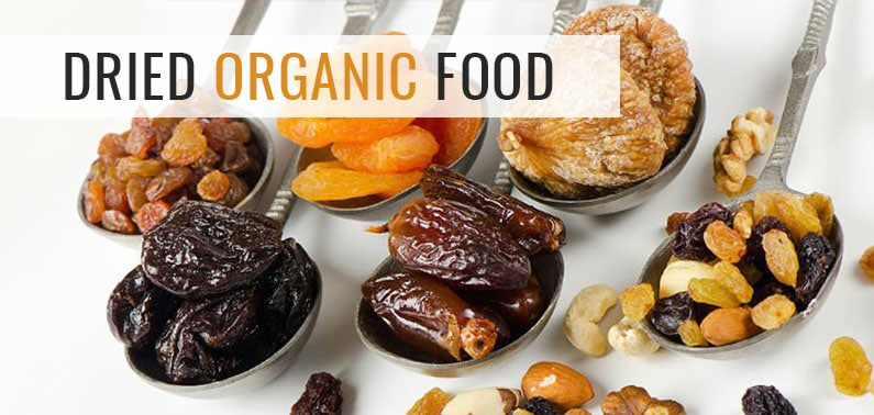 dried organic fruit and vegetable