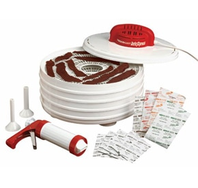 Nesco-FD-28JX product image with jerky inside