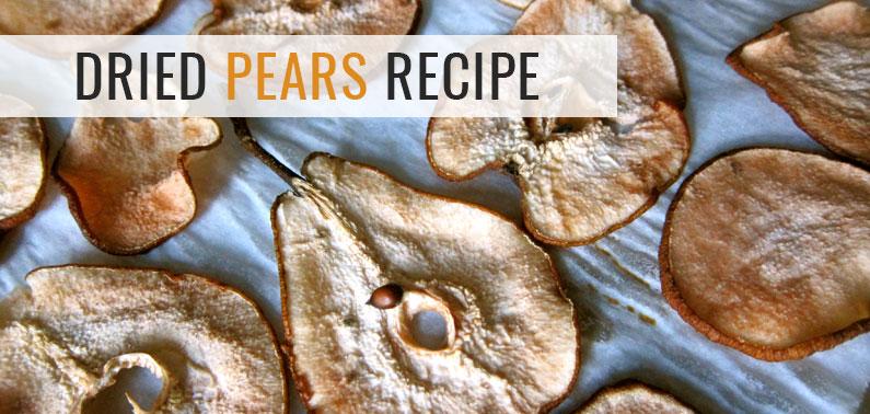 dried pears recipe