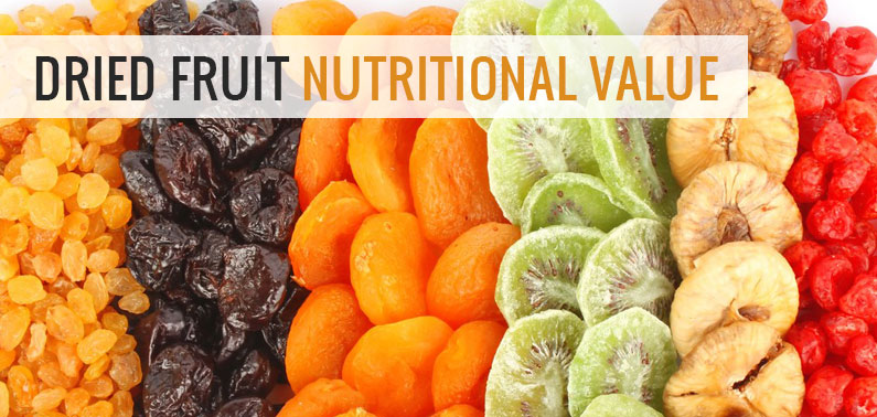 dried fruit nutritional value