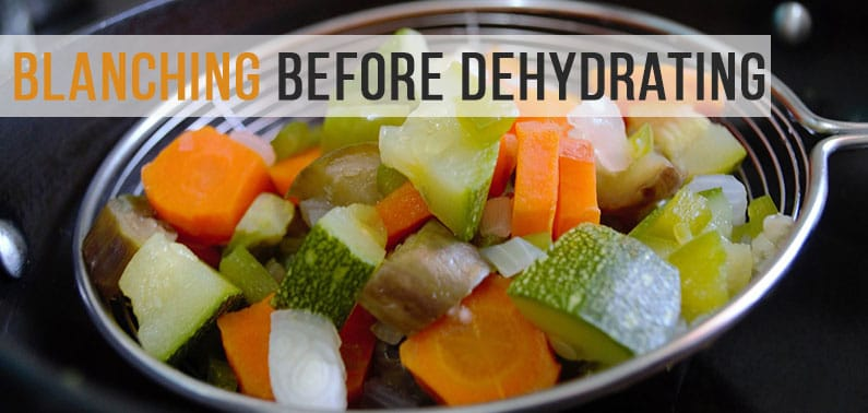 Why to Blanch Vegetables before Dehydrating