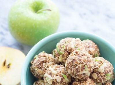 Raw Vegan Apple Cinnamon Granola Bites
