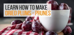 Plums in a small white bowl